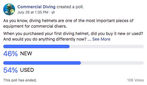 New Vs Used Commercial Diving Helmets